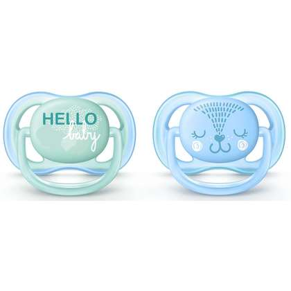 Avent Ultra Air Soother (0-6 Month) Twin Pack