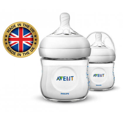 Made In UK - Avent Natural Bottle 4oz/125ml Twin Pack