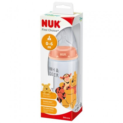 NUK First Choice+ 300ml Bottle- Winnie The Pooh