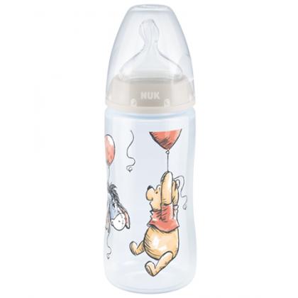 NUK First Choice+ Disney Winnie The Pooh 300ml Bottle (Unisex Random Design)