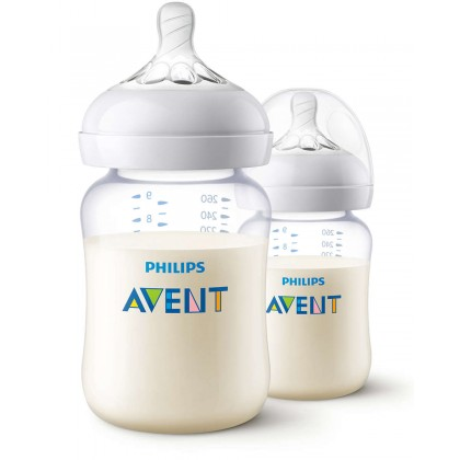 Avent PA Hybrid Natural 9oz/260ml Twin Pack