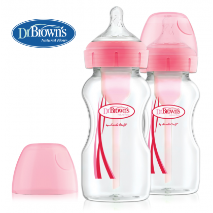 Dr Brown's Options+ 270ml Anti-colic Bottle Twin Pack- Pink