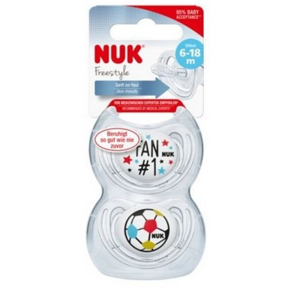 NUK Football Edition Soothers (2 Sizes)