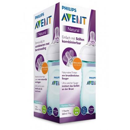 Avent Exclusive Turquoise Natural 9oz/260ml Bottle (ETA 23/11/2020)