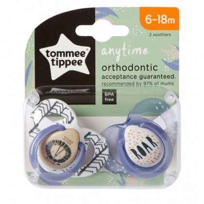 Tommee Tippee Any Time Soothers Twin Pack (6-18 months)