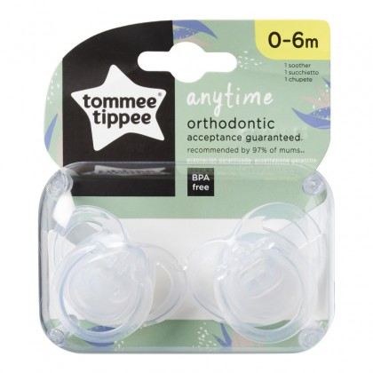 Tommee Tippee Any Time Soothers Twin Pack (0-6 months)