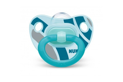 NUK Happy Days Blue (6-18 Month) Soother Twin Pack