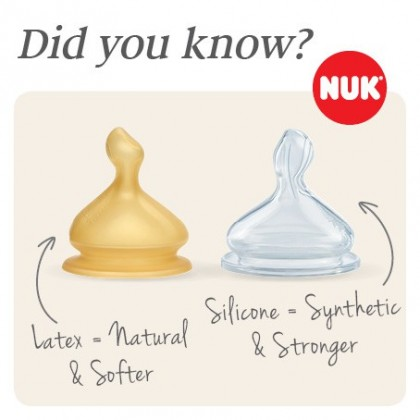 NUK First Choice+ Glass Bottle With Latex Teat 240ml
