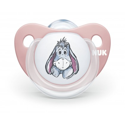 NUK Disney Winnie The Pooh (0-6 Month) Pink Soother Twin Pack