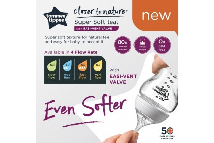 Tommee Tippee Closer To Nature Super Soft Teat - Medium Flow
