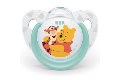 NUK Disney Winnie The Pooh (0-6 Month) Soother Twin Pack