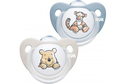 NUK Disney Winnie The Pooh (6-18 Month) Blue Soother Twin Pack