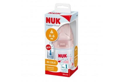 NUK Premium Choice+ Temperature Control Bottle 150ml - Pink Flower
