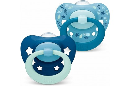 NUK Signature Blue ~ (6-18 Month) Soother Twin Pack